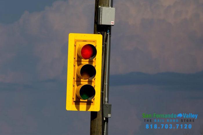 downed traffic light san fernando valley bail bonds