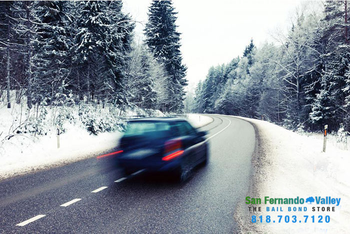 winter weather driving san fernando valley bail bonds